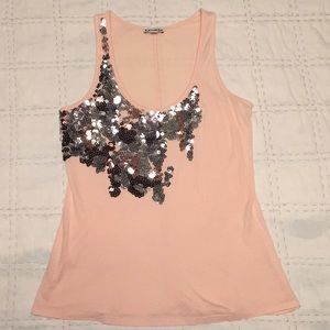 Express Pale Pink with Sequins Tank